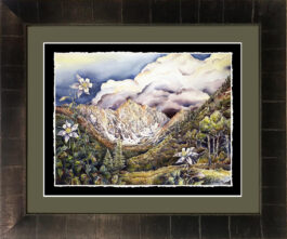 giclee framed_dark bronze and underbrush