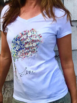 USA Bouquet V Neck Tee