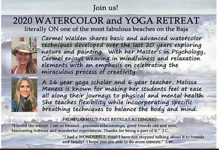 Watercolor and yoga retreat 2020