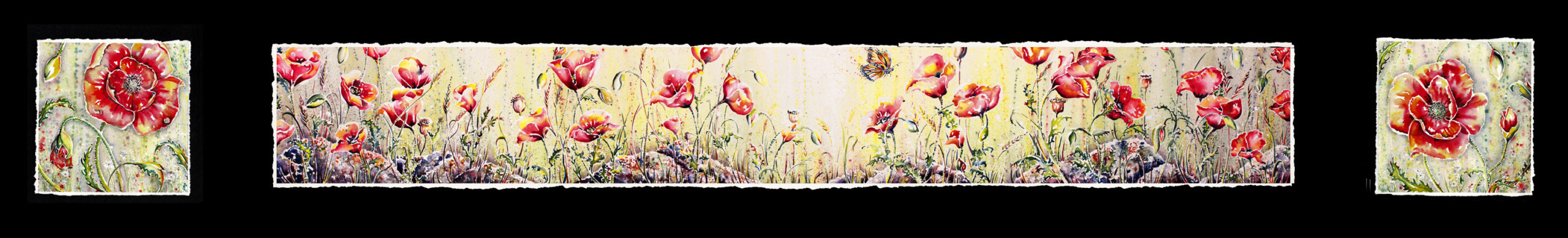 Davys Poppies Triptych
