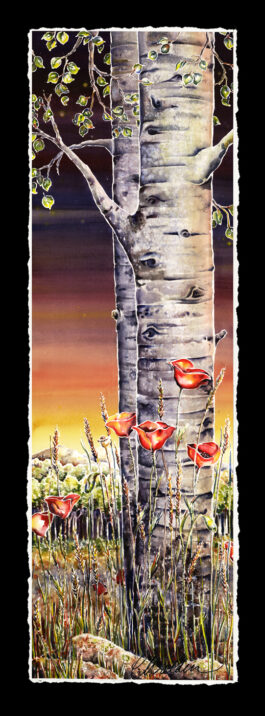Sunset 2 (Aspen and Poppies)