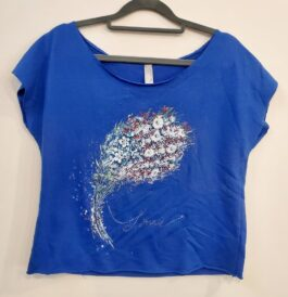 USA BOUQUET Terry Dolman Tee- SIZE medium only 1 left