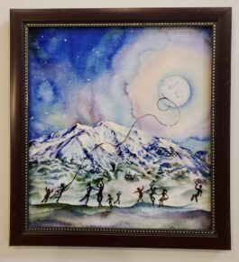 "SOLD:""Musiclight (Mount Sopris)"" Framed Metal Print"