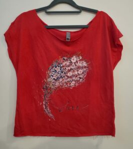 USA BOUQUET Terry Dolman Tee- sm, med