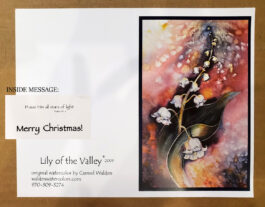 10 Lily of Valley Christmas Cards
