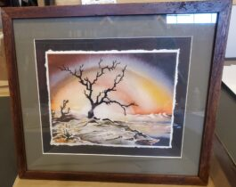 SUNDOWN framed giclee (15″ x 18″)*