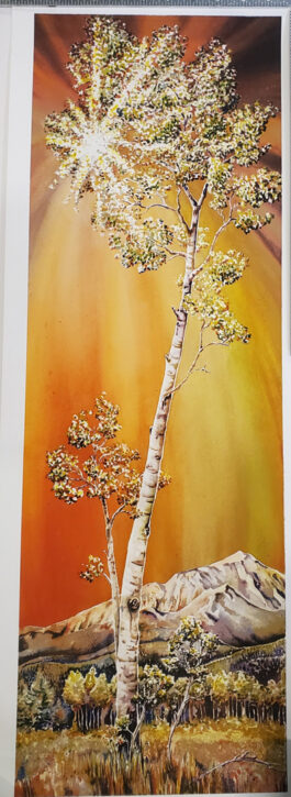 SOLD-ENLIGHTEN Artist Proof giclee at 10″ X 30″