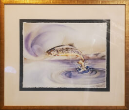 Bookie's Leap giclee antiqued gold Tuscan frame to 26″ X 30″