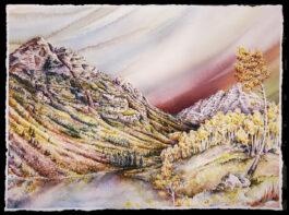 ROCKING (Pyramid Peak, Maroon Bells) giclee 16″ X 22″