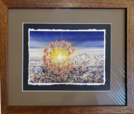 COLORADO limited giclee framed to about 11″ X14″